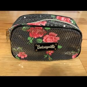 Betseyville floral sequined makeup bag